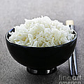Bowl Of Rice With Chopsticks by Elena Elisseeva