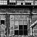 Broken Windows In Black And White by Paul Ward