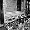 Brussels Cafe In Black And White by Carol Groenen