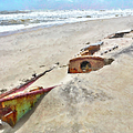 Buried Treasure - Shipwreck On The Outer Banks I by Dan Carmichael