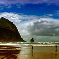 Cannon Beach At Dusk II by David Patterson