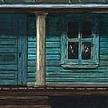 Cat On The Porch by J Ferwerda