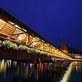 Chapel Bridge At Lucerne In Switzerland by Jetson Nguyen