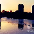 Charles River Rower At Dawn by Kenny Glotfelty