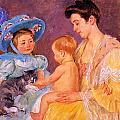 Children Playing With A Cat by Marry Cassatt