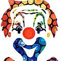 Clownin Around - Funny Circus Clown Art by Sharon Cummings
