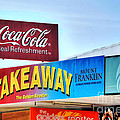 Coca-cola - Old Shop Signage by Kaye Menner