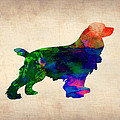 Cocker Spaniel Watercolor by Naxart Studio