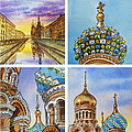 Colors Of Russia Church Of Our Savior On The Spilled Blood  by Irina Sztukowski