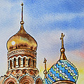 Colors Of Russia St Petersburg Cathedral Iv by Irina Sztukowski