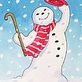 Dancing Snowman by Lavinia Hamer