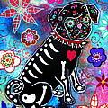 Dia De Los Muertos Pug by Pristine Cartera Turkus