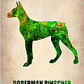Doberman Pinscher Poster by Naxart Studio