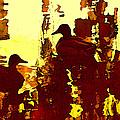 Ducks On Red Lake 3 by Amy Vangsgard