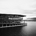 early morning at the Vancouver convention centre west building on burrard inlet BC Canada by Joe Fox