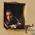 Egyptian Guard with a gun