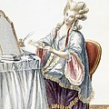 Elegant Lady At Her Dressing Table by Pierre Thomas Le Clerc