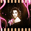 Elizabeth Taylor - Pink Film by Absinthe Art By Michelle LeAnn Scott
