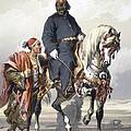 Eunuch Of The Seraglio On A Fine Arab by Amadeo Preziosi