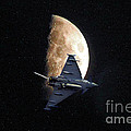 Eurofighter Against A Harvest Moon by Peter McHallam