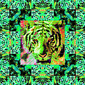 Eyes Of The Bengal Tiger Abstract Window 20130205m180 by Wingsdomain Art and Photography