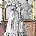 Fashion Plate Of A Lady In Evening by English School