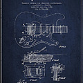 Fender Tremolo Device Patent Drawing From 1956 by Aged Pixel