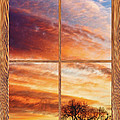 First Dawn Barn Wood Picture Window Frame View by James BO  Insogna