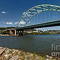 Fisherman At Birmingham Bridge Pittsburgh Pennsylvania by Amy Cicconi