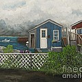 Fishing Shacks Alaska by Reb Frost