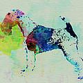 Fox Terrier Watercolor by Naxart Studio