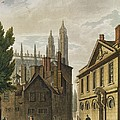 Front Of Trinity Hall, Cambridge by Augustus Charles Pugin