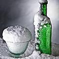Frozen Bottle Ice Cold Drink by Dirk Ercken