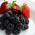 Fruit IIi - Strawberries - Blackberries by Barbara Griffin