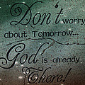 God Spiritual Art - Inspirational Message Typography by Kathy Fornal