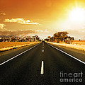 Golden Sky And Road by Boon Mee
