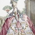 Grand Robe A La Francais, Engraved by Claude Louis Desrais