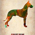 Great Dane Poster by Naxart Studio