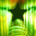 Green Christmas Star by Gaspar Avila