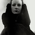 Greta Garbo Wearing A Black Dress by Edward Steichen