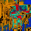 Harry Houdini And The Chinese Water Torture In Abstract by Wingsdomain Art and Photography