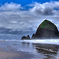 Haystack Rock Iva by David Patterson