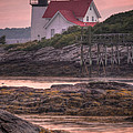Hendricks Head Light At Sunset - Portrait by At Lands End Photography