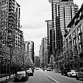 high rise apartment condo blocks in the west end west pender street Vancouver BC Canada by Joe Fox