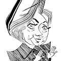 Hillary Clinton Debate by Tom Bachtell