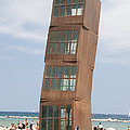 Homenatge A La Barceloneta - Artwork By Rebbeca Horn On A Beach In Barcelona by Matthias Hauser