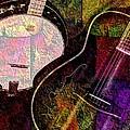 If Not For Color Digital Banjo And Guitar Art By Steven Langston by Steven Lebron Langston