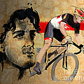 Ink Portrait Illustration Print Of Cycling Athlete Fabian Cancellara by Sassan Filsoof