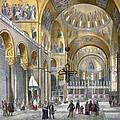 Interior Of San Marco Basilica, Looking by Italian School