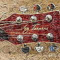 Jay Turser Guitar Head - Red Guitar - Digital Painting by Barbara Griffin